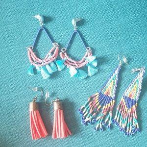 Jewelry - 3 pairs fun earrings